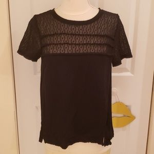 Marc by Marc Jacobs Addy Lace Mix Ruffle Tee